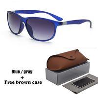 caixa de óculos estilo caixa venda por atacado-2018 moda estilo clássico óculos de sol das mulheres dos homens marca designer de óculos de sol gafas oculos de sol com casos e caixa livre