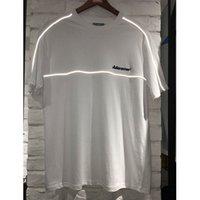 camisa reflexiva de algodão venda por atacado-19ss Adererror Camisetas Reflexivo Bordado Das Mulheres Dos Homens Erro Ader Top Tees Algodão Casual de Alta Qualidade Ader Erro T-shirts