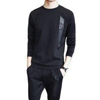 xxl koreanische kleidung großhandel-Männer 2019 Frühling Korean Sportswear Dünne Dünne Jogging Fitness Set Sportbekleidung Trainingsanzug Laufbekleidung Trainingsanzug
