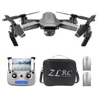 cw ccw hélice par venda por atacado-ZLRC SG907 4K 5G WiFi FPV GPS dobrável RC Drone Com ajustável 120 graus de ângulo amplo Camera 50x Zoom Óptico Fluxo de Posicionamento RTF - Três B