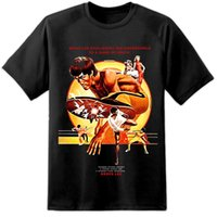 Wholesale free movie posters for sale - Group buy Bruce Lee Classic Game Of Death Movie Poster Style T Shirt S XL Vintage Retro summer o neck tee cheap tee