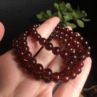Wholesale china stone bracelets for sale - Group buy 8 mm natural garnet crystal Stone crystal bracelet quartz rock healing crystal gift polished crafts for sale
