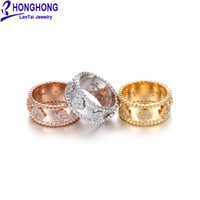 Wholesale fashion brass finger rings for sale - Group buy HONGHONG Fashion Kaleidoscope Flowers Finger Rings Clear CZ Ring for Women Wedding Fashion Jewelry Accessories