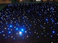cortina preta luzes led venda por atacado-Estrela cortina de luz pano de fundo do palco do casamento led preto palco pano de fundo cortina de roupas para decoração de casamento suprimentos