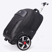 nuevas ruedas grandes al por mayor-Nuevo diseño de carro rodante equipaje rueda grande viaje bolsa de viaje hombres / mujeres maleta de gran capacidad maleta de embarque ligero