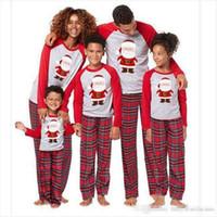 conjuntos de ropa de la familia al por mayor-Familia pijamas de Navidad a juego de la familia pijamas Set Padre hija de la madre Hijo Mismo vestido ropa de la madre de la familia y la ropa de la hija