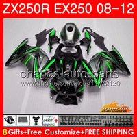ingrosso kawasaki ninja zx 11-Corpo per KAWASAKI NINJA ZX-250R EX-250 ZX250R 08 09 10 11 12 13HC.68 grigio verde ZX 250R EX 250 EX250 2008 2009 2010 2011 Kit carenatura 2012