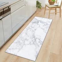 mármol azul al por mayor-Negro blanco rosado de mármol Entrada Impreso Felpudo largas alfombras de las esteras de suelo de alfombras de baño Salón Cocina