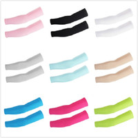 Wholesale sleeve covers waterproof resale online - uv protection arm cooling sleeves ice silk arm cover Sleeves Protective Sleeves for Running Cycling Fishing