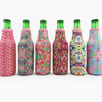 iyi şişeler toptan satış-Çok kaliteli 6 renkler toptan boş monogram özel neopren şarap şişesi rafı paketi tasarım zambak