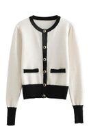 damen schwarze strickjacken großhandel-Retro Jacke der Frauen 2018 Herbst und Winter neue Damen Soft-Touch-Pullover Strickjacke schwarze Pullover wissen