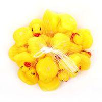bebek duş ördek iyilikleri toptan satış-4 cm Mini Duş oyuncaklar ördek plastik Duckie Bebek 5-7 yıl Hediye oyuncak Sıkma Çağrı Kauçuk Ducky Doğum Günü Şekeri