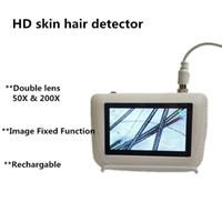 gefrorene haut großhandel-DHL Versand Digitale Gesichtsdiagnose Gesichtsanalyse Tester Scanner Haut Haaranalysator Maschine Einfrieren Feste Bild Zwei Objektiv Verfügbar
