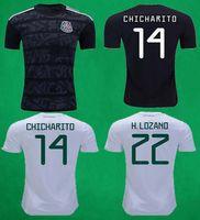 45f8cd20f7e 2019 Mexico Gold Cup Jersey 18 19 Mexico Black Soccer Jersey Home Away  Football Shirt CHICHARITO HERNANDEZ G.DOS M.LAYUN CARLOS football top