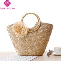 Wholesale straw handbags for sale - Pink sugao designer luxury handbags  purses women tote bags flower c3a3f5b032ecb