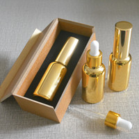 4pcs 30ml High temperature gold plated dropper bottle With wooden box,empty glass essential oil bottle, perfume subpackage jar
