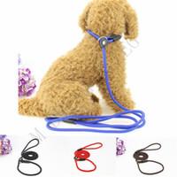 Wholesale slip lead dog leashes resale online - 4 Colors Pet Dog Nylon Rope Training Leash Slip Lead Strap Adjustable Traction Collar Pet Animals Rope Supplies Accessories cm