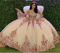 vestido fúcsia escuro quinceanera venda por atacado-Sparkly Sexy Lace Dresses Prom Quinceanera vestido de baile Querida Partido Evening Vintage Tulle doce 16 Vestido ZJ309