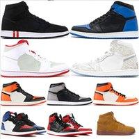 kaliteli kadın basketbol ayakkabıları toptan satış-2019 sıcak satış 1 Erkekler Basketbol Ayakkabıları OG jumpman Sneaker Kaliteli Mandalina ördek Eğitmenler moda lüks erkek kadın tasarımcı sandalet ayakkabı