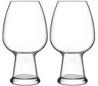 ingrosso occhiali soffiati-Vendita all'ingrosso occhiali da vino birra al grano 780ml trasparente soffiato a mano inciso logo trasparente Birrateque Wheat Glasses