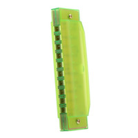 Wholesale XFDZ Diatonic Harmonica Holes Blues Harp Mouth Organ Key of C Reed Instrument with Case Kid Musical Toy Fluorescent green
