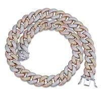 halskette für männer 22 großhandel-Maimi Kubanische Gliederkette Halskette Männer Hip Hop Gold Farbe Iced Out Kubikzircon Halsketten Schmuck Geschenke 18