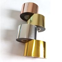 espelhos de etiqueta de ouro venda por atacado-120 m / roll atacado espelho de metal folha de transferência de prata de ouro champagne prego folha etiqueta diy nail art decalque manicure ferramentas
