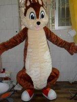 trajes de colas marrones al por mayor-2019 Big Tail Brown Squirrel Adulto disfraces traje de la mascota del personaje adulto traje de la mascota envío gratis