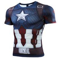 т короткие мстители оптовых-Captain Marvel Avengers 4 Футболка New Quantum Warfare 2019 Герои Костюмы Боевой костюм Футболка Футболка с длинным рукавом Модная одежда