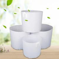 ingrosso piante da giardino-Non tessuto bianco piante che crescono borsa vegetale vaso di fiori contenitore fai da te giardino pot piantare casa fattoria crescere borsa