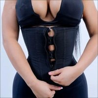 a3e03bde76 Miss Moly Latex Waist Trainer Body Shaper Women Corsets with Zipper Hot Shapers  Cincher Corset Top Slimming Belt Black Plus Size