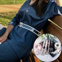 şeffaf giyinmiş kızlar toptan satış-Kadın Jeans Elbise Kız Casual Kemer cinto Feminino için Kadınlar Kalp Yuvarlak Kare Toka Bel Belt İçin Yeni Şeffaf Kayışlar