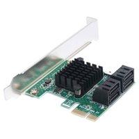 pci ekspres genişleme toptan satış-PCI-E X1 SATA3 6 Gbps 4 Port Adaptörü Uyumlu Masaüstü Anakart Genişleme HDD / SSD Depolama Aygıtları