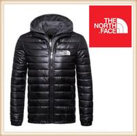 mens windproof coat toptan satış-Kış KUZEY ceketler Açık Windproof Kayak Sıcak Aşağı Coat Casual Kapşonlu Spor YÜZ Baskılı Ücretsiz Shipp aşağı Aşağı Kapüşonlular Beyaz ördek mens