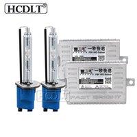 h1 xenon gizli dönüştürme kiti toptan satış-HCDLT 55W Xenon HID Dönüşüm Kiti Xenon H7 55W 5500K HID H1 H11 HB3 HB4 9012 D2H Araç Işık Far Ampul AC Hızlı Başlat Balast