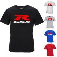 ingrosso rosso nero gsxr-Nuovo Mens estate magliette GSXR lettera stampata di alta qualità 100% Nero Bianco Grigio Cotone Blu Rosso Mens superiore a maniche corte S-3XL