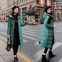 bayanlar kış parkaları satışı toptan satış-sonbahar kış satış Kadınlar Artı boyutu Moda pamuk Aşağı ceket kapüşonlu uzun Parkas ılık Ceketler Kadın kış ceket elbise