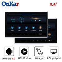 mp4 bluetooth 16gb venda por atacado-2019 Car Headrest Android monitor com 11,6 polegadas IPS 2.5D Touch Screen 2GB + Suporte 16GB MP4 / MP5 / HDMI / SD / FM / espelhamento / Miracast / USB