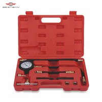 баллон для газа оптовых-Auto Fuel Injection Pump Pressure Tester Kit Car Petrol Gas Engine Cylinder Compression Gauge Car Diagnostic Tool