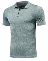 secas camisas pólo ajuste venda por atacado-Quick Dry Fit Pólo Camisa Correndo T-Shirt Dos Homens Camisa de Tênis de polo Basketball GINÁSTICO Correndo T Camisa Badminton Esporte Futebol Roupas DIY, personalizado