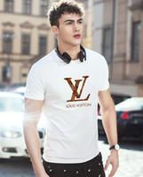 camisas blancas modales al por mayor-Camisetas de moda para hombre Hip Hop Algodón Hombre fuera de la ropa Camiseta Cuello redondo multimillonario Hombre Tops Verano manga corta camisa blanca blanca tee