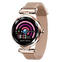умные часы стали водонепроницаемыми оптовых-Стальной ремешок Smart Watch Женщины Водонепроницаемый Smartwatch Дамы Bluetooth наручные часы Heart Rate Фитнес-часы для Android IOS Phone