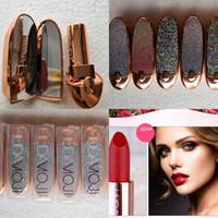 productos para los labios al por mayor-2019 MOJI Matte 6Colors Lipstick Sexy Impermeable Duradero Long Professional MOJI Lip Sticks Productos de maquillaje Venta caliente Mujeres Moda