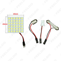adaptador led ba9s al por mayor-venta al por mayor White Car 36SMD 5050 LED Light con T10 / BA9S / Festoon Adaptador Cúpula Bulbos Panel de luz de lectura # 1963