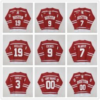 ingrosso maglia hockey universitaria-Custom Boston University # 3 charlie coyle # 7 Charlie McAvoy # 9 Jack Eichel # 19 Clayton Keller # 20 Diffley Red Hockey Jersey Patch cucite