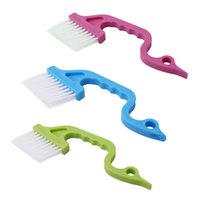 Wholesale ready brush resale online - Hand held Groove Gap Cleaning Tool Window Track Brush Cleaner ready to ship