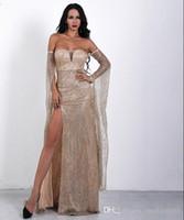 Wholesale new brilliant dress resale online - Evening Dress Long Brilliant New Women s Elegant Evening Dress With V neck With Sequins Mermaid Maxi Evening Dress