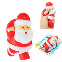Wholesale toy sweets resale online - Hot Jumbo Kawaii Squishy Slow Rising Christmas Father Santa Claus Phone Strap Soft Sweet Bread Cake Scented Kids Toys