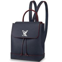 Wholesale two tone business dresses resale online - 2019 M43879 LOCKME BACKPACK women blue BACKPACKS FASHION SHOWS OXIDIZED LEATHER BUSINESS BAGS HANDBAGS TOTES MESSENGER BAGS