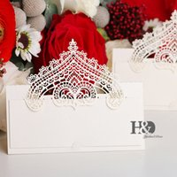 Wholesale prices wedding crowns resale online - H D PC Crown Party Table Name Place Cards Casamento Souvenirs Wedding Invitations Decor Queen Princess party Cost Price